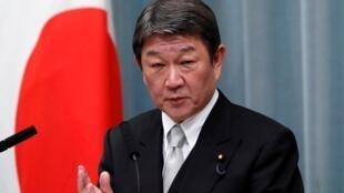 日本外务大臣茂木敏充资料图片