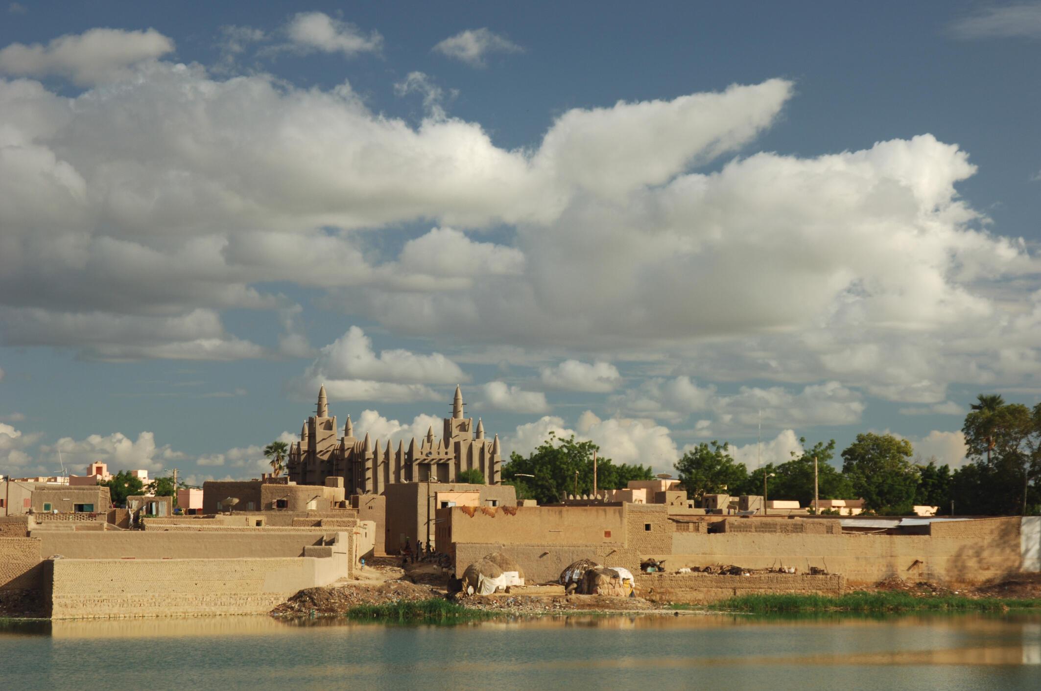 Vue de Mopti, ville du centre du Mali.