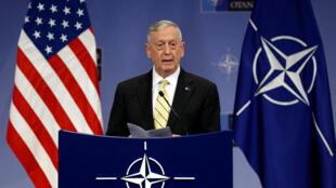 Le secrétaire américain à la Défense James Mattis lors d'une réunion ministérielle de l'Otan, le 16 février 2017.