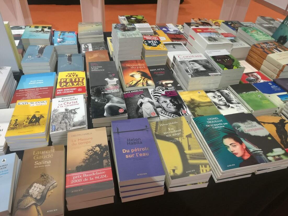 Les très riches heures de la littérature aricaine. Vue de la librairie africaine au Salon de Genève 2019.