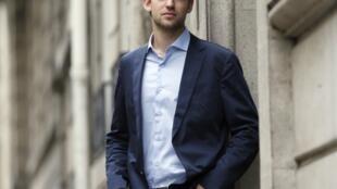 Le Suisse Joël Dicker, lauréat du Grand prix du roman de l'Académie française 2012.