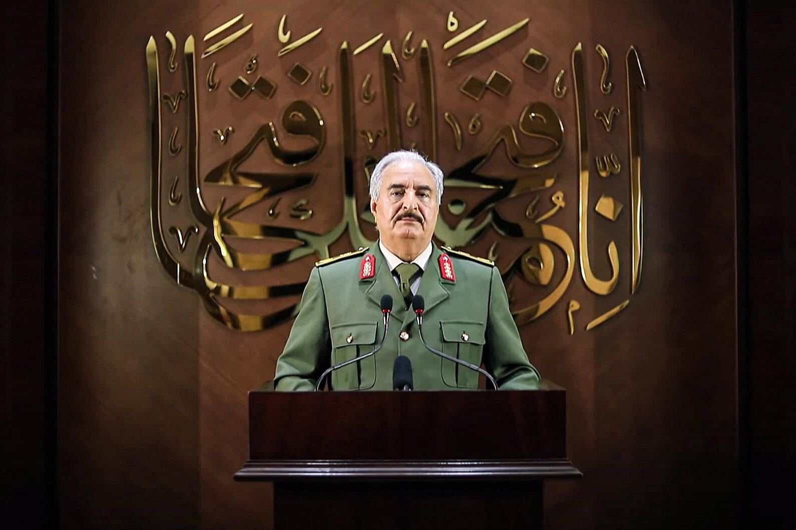 Libyan strongman Khalifa Haftar has announced he has a popular mandate to rule the divided country