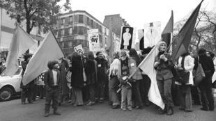 Демонстрация за свободный доступ к абортам и контрацепции, Париж, ноябрь 1972 г.
