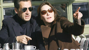 Just married, French President Nicolas Sarkozy and Carla Bruni, 3 February 2008.