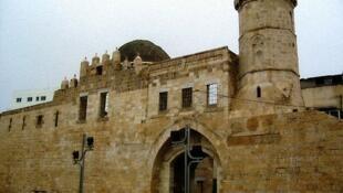 The medieval caravanserail of Khan Yunis in the southern Gaza Strip