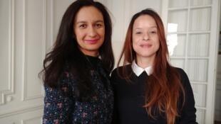 As enfermeiras brasileiras Rafaela Tillier e Ligia Paraiso, que ajudam as compatriotas a lidar com a depressão sazonal