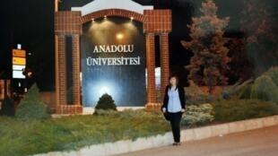 L'étudiante franco-turque Sevim Sevimli, à Eskisehir, a été arrêtée début mai 2012.