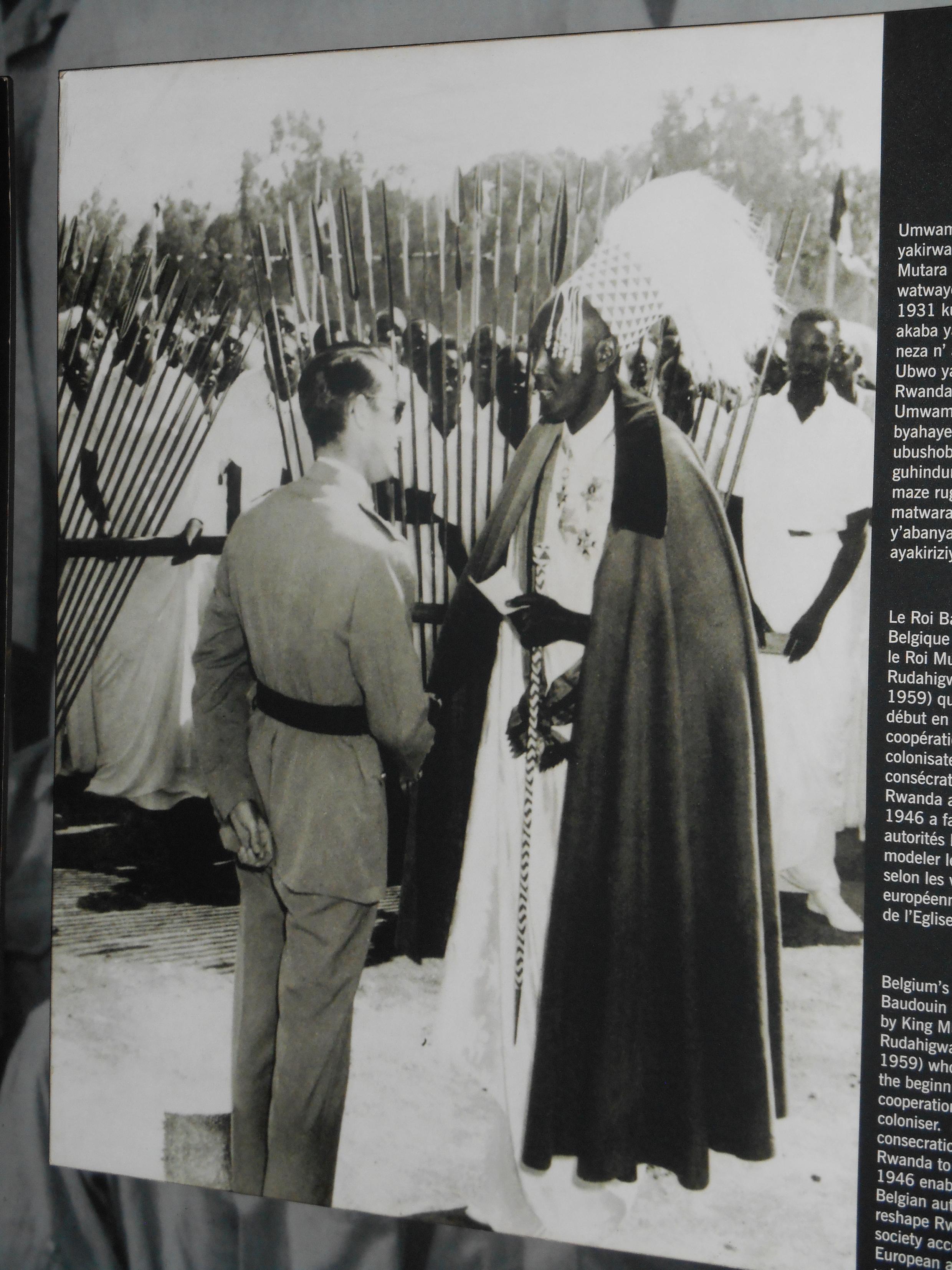 Король Бельгии Бодуэн с королем Руанды Мутара III