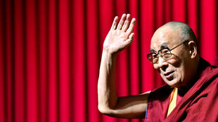 The Dalai Lama at a conference in Brussels on 11 September, 2016