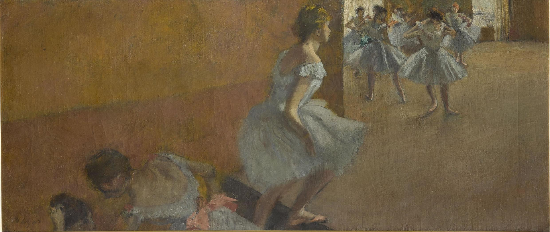 «Танцовщицы,поднимающиеся по лестнице». Эдгар Дега. 1877. Музей Орсе, из даренияИсаака де Камондо.