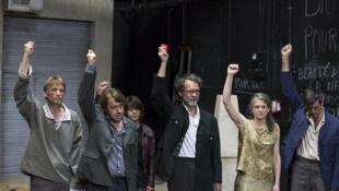 «Hypérion», une adaptation du roman de Friedrich Hölderlin par Marie-José Malis, metteuse en scène et directrice du théâtre de la Commune à Aubervilliers.