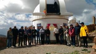 Inauguration du télescope Trappist 1 en octobre 2016, observatoire de La Silla, Chili.