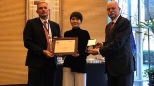 709律师王全璋之妻李文足获颁法德2019人权法治奖2019年12月11日