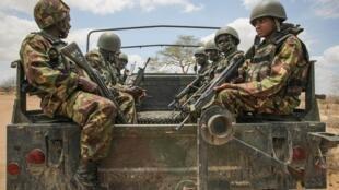Wanajeshi wa Kenya wakilinda usalama nchini Somalia