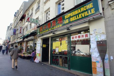 El barrio de Belleville, en el distrito XX de París.