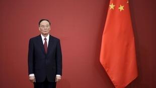 Ủy viên thường vụ Bộ Chính Trị đảng Cộng Sản Trung Quốc Vương Kỳ Sơn (Wang Qishan), ẩn số của Đại hội 19. Ảnh chụp tại  Bắc Kinh ngày 2/9/2015