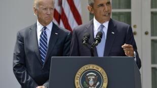 លោកប្រធានាធិបតីអាមេរិក អូបាម៉ា និងលោកអនុប្រធានាធបតី Joe Biden