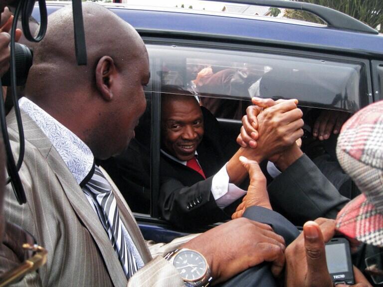 Agathon Rwasa aliporejea mjini Bujumbura akitokea mafichoni, Agosti 6, 2013.