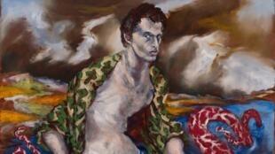 Naaman, 2017 Huile  sur toile  /  Oil on canvas 160 x 195 cm  / 63 x 76  ¾  in.