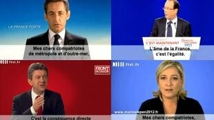 Os 10 candidatos às eleições presidenciais francesas têm direito ao mesmo tempo de exposição em rádio e televisão.