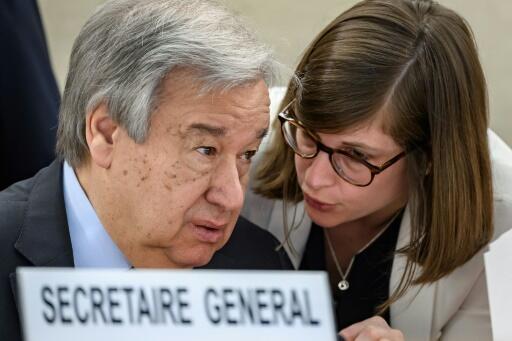 Antonio Guterres al inicio del Consejo de derechos humanos en Ginebra el 24 de febrero de 2020