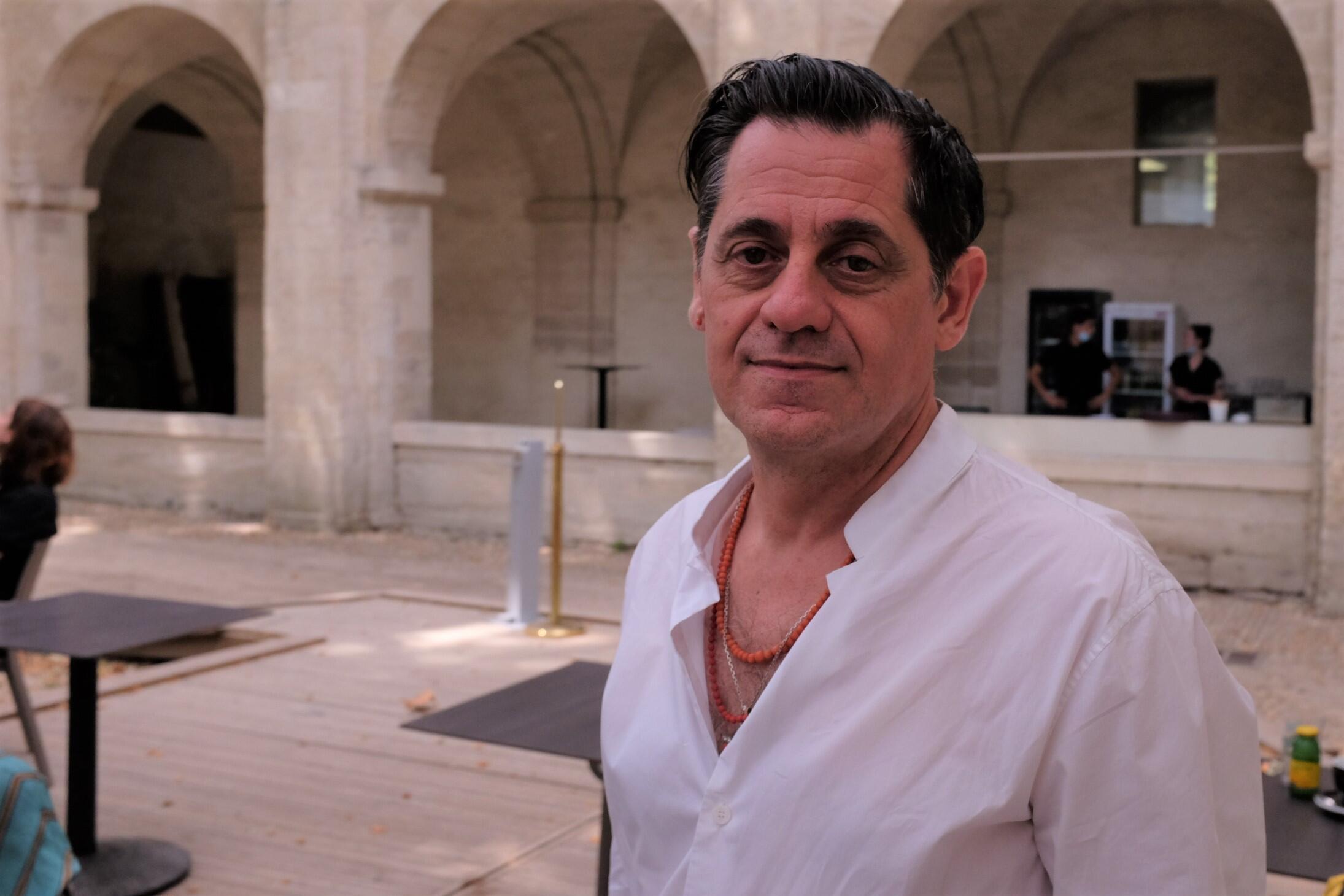 Olivier Py, directeur du Festival d'Avignon, à la fin de l'édition 2021.   © Siegfried Forster / RFI