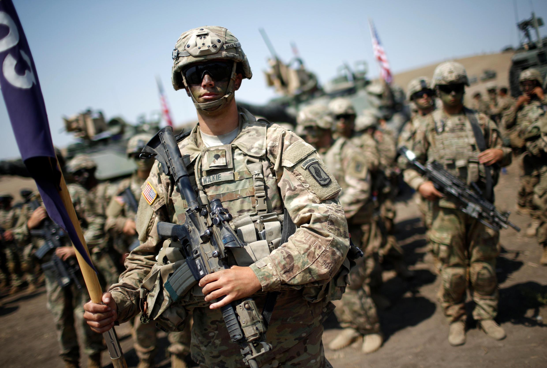 Американский военнослужащий на церемонии закрытия учений НАТО в Грузии