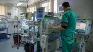 Unité de soin intensif de néo-natologie de l'hôpital al-Shifa de Gaza en janvier 2017 (photo d'illustration).