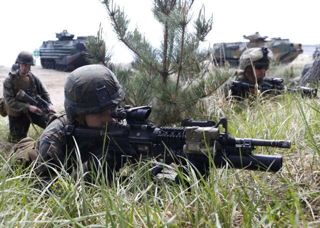 Lính Hàn Quốc trong đợt tập trận chung với Mỹ