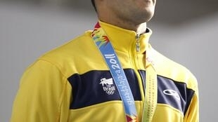 O nadador brasileiro e recordista em medalhas em pan-americanos Thiago Pereira.