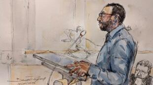 Le CRS a évoqué un «geste de peur» lors de son procès, le 21 novembre 2019 à Paris.