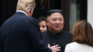 Donald Trump y Kim Jong-un, Hanói, 28 de febrero, 2019.