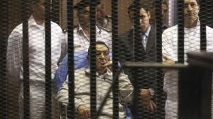 L'ex-président égyptien Hosni Moubarak le 15 avril 2013.