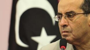 Ông Mahmoud Jibril, nhân vật số 2 của CNT trong cuộc họp báo tại Benghazi, Libya, 18/09/2011