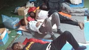 Migrants à bord du «Nivin» refusant de débarquer en Libye. (Photo d'illustration)