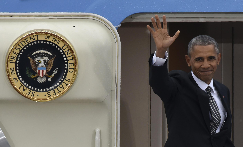 Barack Obama a despedir-se em Berlim. 18 de Novembro de 2016.