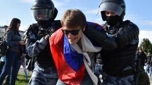 Задержание на московской акции за честные выборы