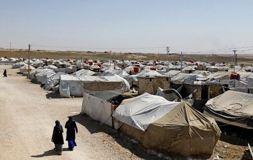 Campo onde estão alegados familiares do autodenominado Estado Islâmico em