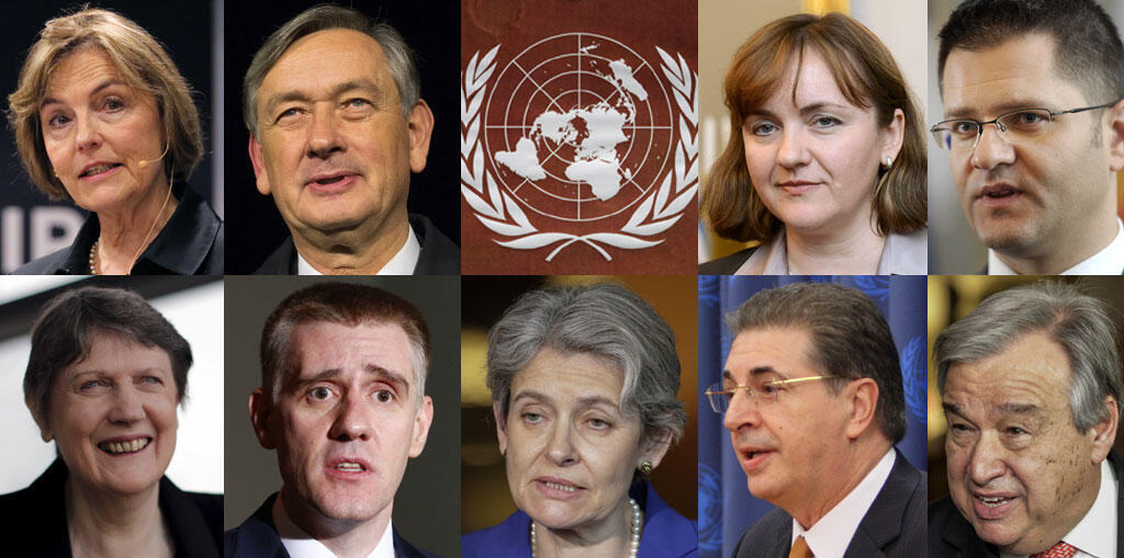 Cinq hommes et quatre femmes se disputent le poste de secrétaire général de l'ONU.