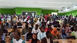Etudiants à l'Université Alioune Diop de Bambey au Sénégal.