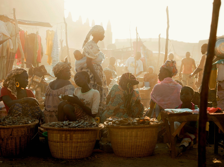 Le marché de Bamako au Mali