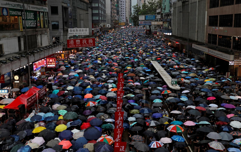 Estudantes de Hong Kong fizeram apelo à greve nesta quinta-feira. Foto de domingo, 18 de agosto.