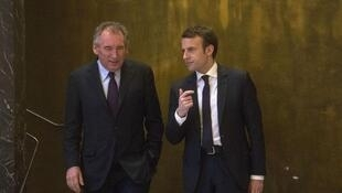 François Bayrou e Emmanuel Macron