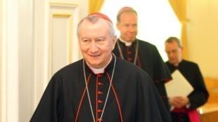 Hồng y Pietro Parolin tại Vilnius (Littva), 09/05/2016.