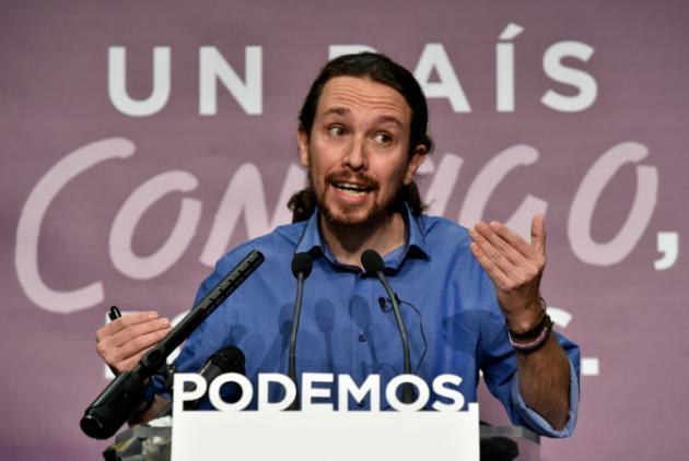 Pablo Iglesias kiongozi wa chama cha PODEMOS jijini Madrid, Desemba 21, 2015.