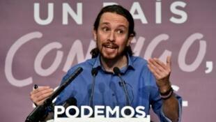 Pablo Iglesias, le fondateur de Podemos.