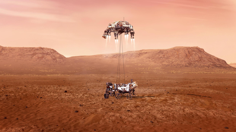 Perservrance landing on Mars