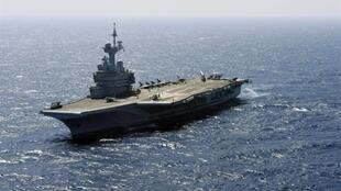 The Charles-de-Gaulle aircraft carrier, currently stationed off Bahrain