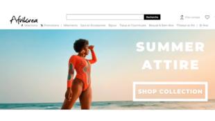 Le secteur de la mode a pu résister à la crise du coronavirus grâce à la vente en ligne (image d'illustration : la page d'accueil d'Afrikrea.com).