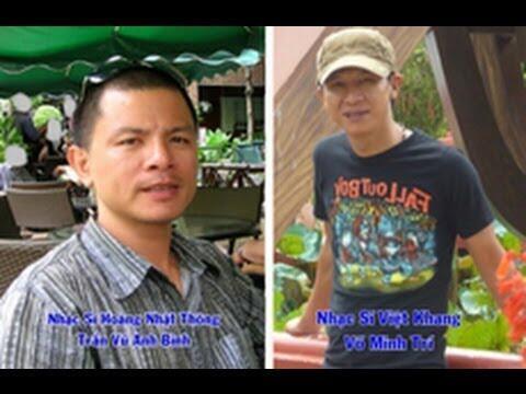 Hai nhạc sĩ Việt Khang (phải) và Trần Vũ Anh Bình (trái)